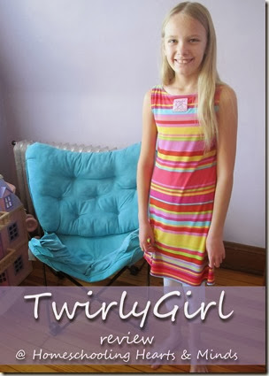 Two looks in One Dress-TwirlyGirl Dresses review at Homeschooling Hearts & Minds