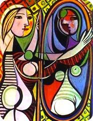 Picasso, mulher ao espelho