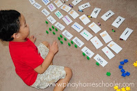 Tally and Finger Counting Cards