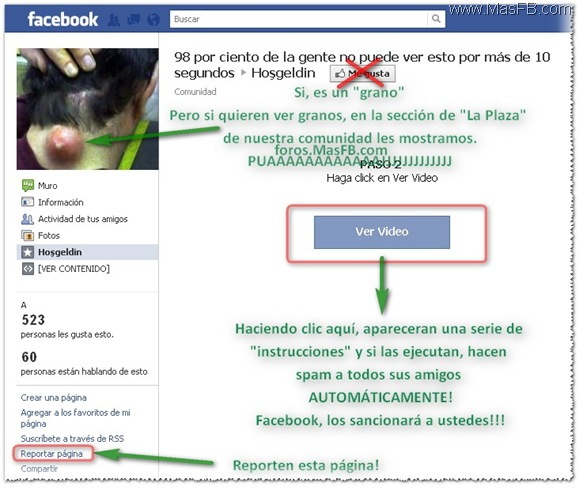 Instrucciones para ver video por Facebook (Fraude)