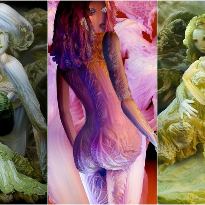 Seductive Sculptures Made From Cabbage by Ju Duoqi