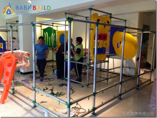 親子餐廳室內3D泡管施工組裝