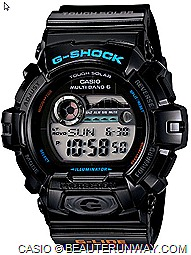 CASIO GWX-8900B G-SHOCK  G-LIDE 2012 WATCHES SPRING SUMMER SURF TIDAL GRAPH pure black and white duo tone wave surf movement moon atomic Timekeeping tough solar power top 100 surf locations all over the world super illuminator