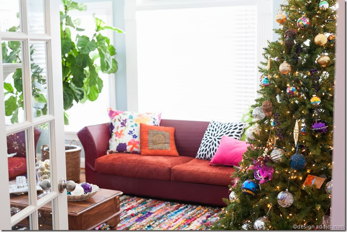 Sunroom Decorated for the Holidays