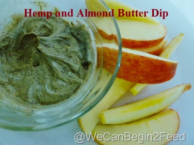 Hemp and Almond Butter Dip