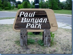 2611 Minnesota Bemidji - Paul Bunyan Park sign