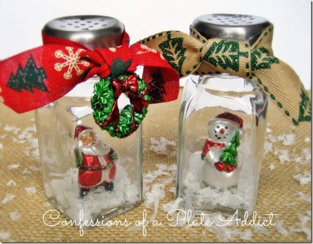 CONFESSIONS OF A PLATE ADDICT Salt Shaker Snow Globes