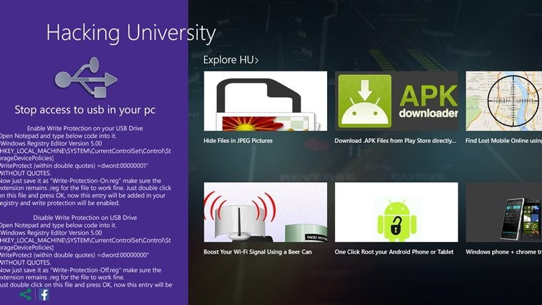 hacking university windows app 2