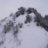 1200m小ピークから次の雪壁を望む 正面のルンゼを登った