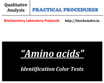 Color reactions of Amino acids