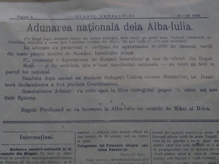 Presa epoca Romania: anunt incoronare rege Ferdinand
