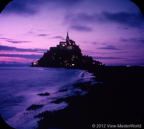 View-Master Mont St. Michel (C197), Scene 7: The Mount at Dusk