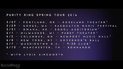 SPRING TOUR with Lydia Ainsworth  tickets on sale friday