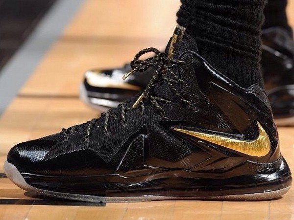 Nike LeBron PS Elite NBA Finals 8211 Game 4 amp 5 8211 Black Gold PE ... 77e0182fe