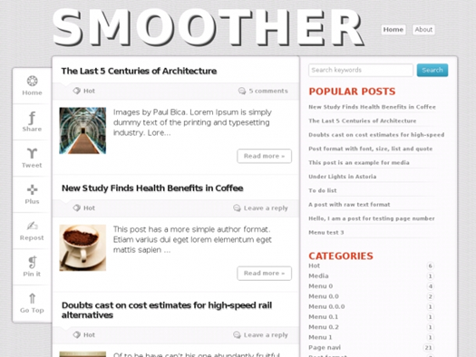 Smoother Blogger Template