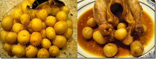 stewed gae hen with potato
