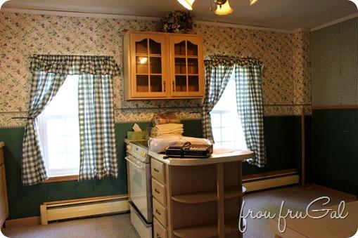 Kitchen Before - Window Wall