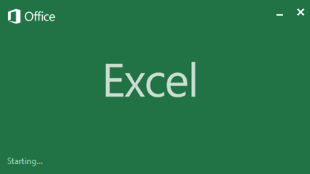 Microsoft Excel 2013 welcome screen