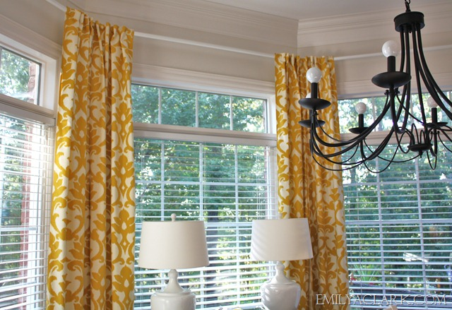 Hanging Curtains In Bay Windows