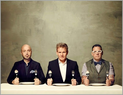 MASTERCHEF: MASTERCHEF returns for an exciting fifth season on Monday, May 19 (8:00-9:00 PM ET/PT). MASTERCHEF gives talented home cooks from all walks of life the chance to showcase their skills, knowledge and passion in front of the show's esteemed judges: L-R: Joe Bastianich,  Gordon Ramsay and Graham Elliot. CR: Justin Stephens / FOX. Copyright / FOX.