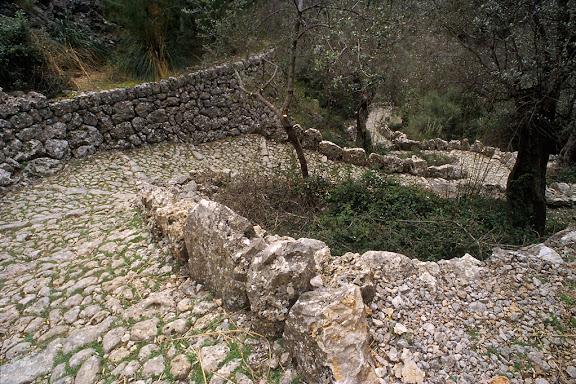 Camí del Barranc de BiniaraixSerra de Tramuntana, Soller, Mallorca