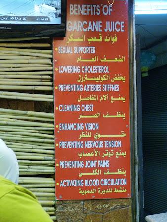Chiosc Amman: Beneficii suc de trestie de zahar