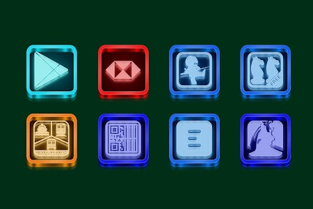 Murano Glass Icon Pack Theme v1.1.0