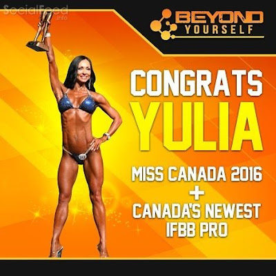 HUGE congratulations to Team Beyond Yourself Athlete Yulia Berezina on her win