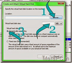 Creating a virtual Hard drive