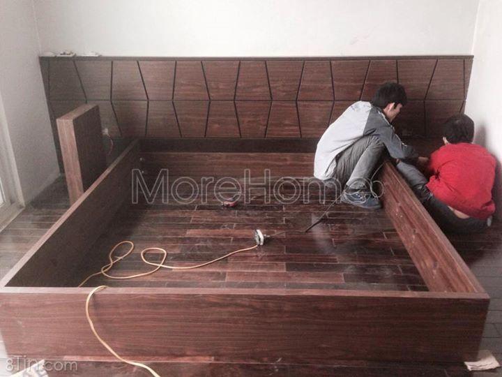 Lắp đặt công trình tại Xuân Diệu. Với chất liệu gỗ MFC