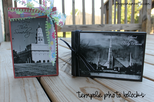 Temple Photo Blocks at GingerSnapCrafts.com