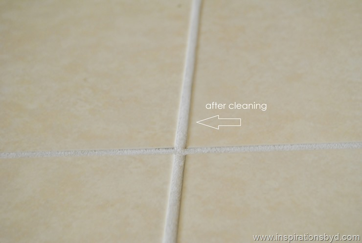 clean floor grout