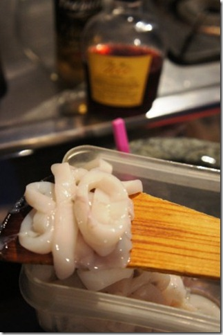squids cut into rings