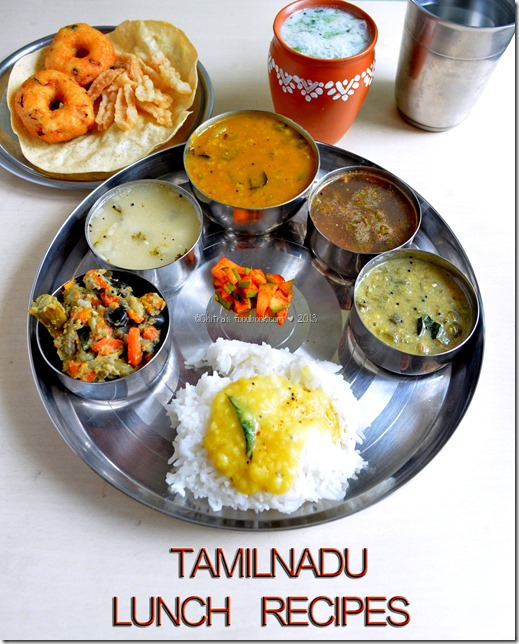 Tamilnadu lunch menu