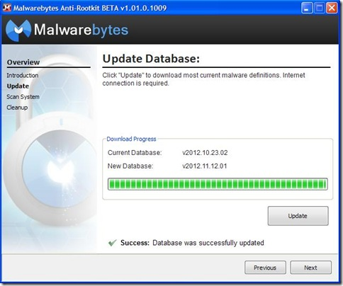 Malwarebytes Anti-Rootkit Update Database