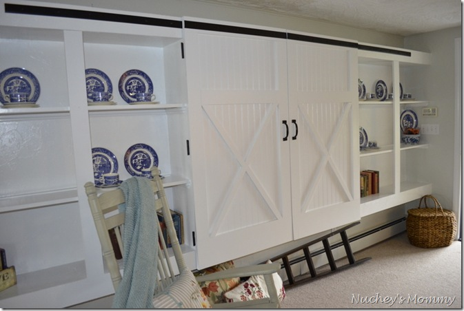 kitchen barn door cabinet diy. Black Bedroom Furniture Sets. Home Design Ideas