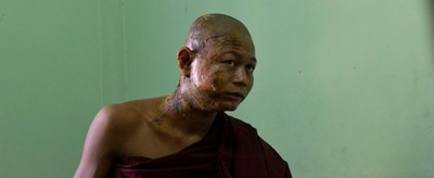 burma monk after mine protest