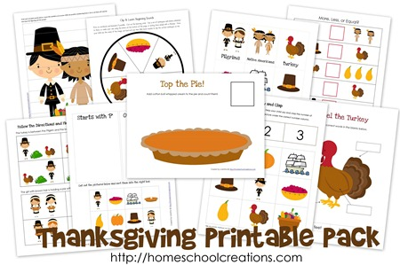Thanksgiving Printables Collage