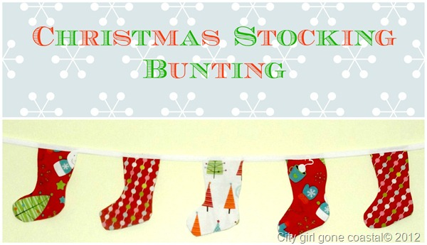 Christmas stocking bunting garland