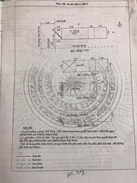 Bán nhà Mặt Tiền đường Lương Thế Vinh Quận Tân Phú, số 58, diện tích 4mx20m, 3.5 tấm, 06