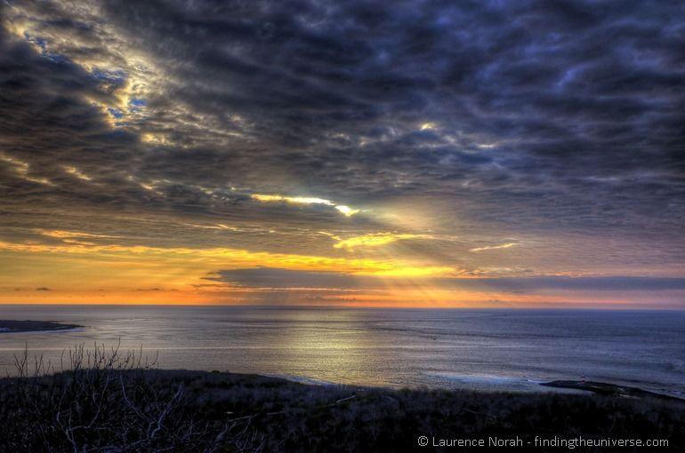 sunset galapagos san cristobal