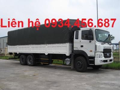 Xe tải 3 chân Hyundai HD260 thùng bạt tải trọng 15 tấn