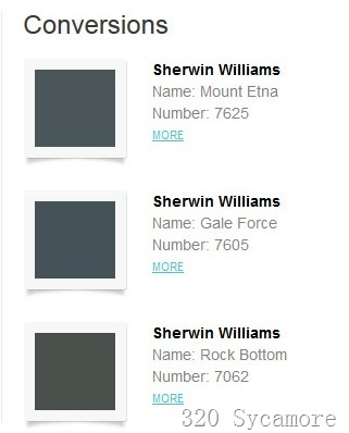 color swatches conversion