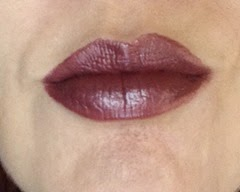 wearing L'Oreal Infallible ProLast Lipcolor in Lilac Infinite