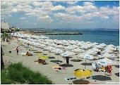 Городской пляж. Поморие. Болгария. www.timeteka.ru