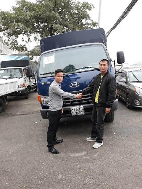 Khách hàng ở Sơn La mua xe Hyundai đô thành HD120sl 8 tấn