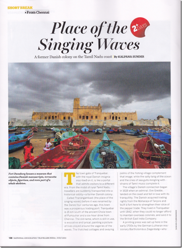 Tranquebar Photo featured in National Geographic Traveller India