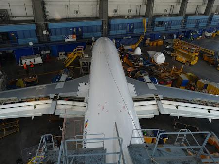 Boeing 737 Deva vazut de sus