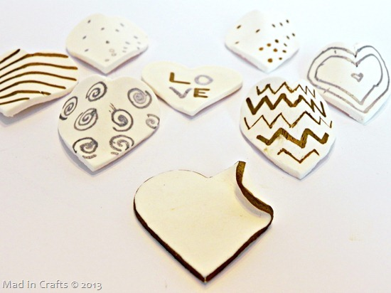 Decorate Clay Hearts