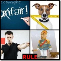 RULE- 4 Pics 1 Word Answers 3 Letters